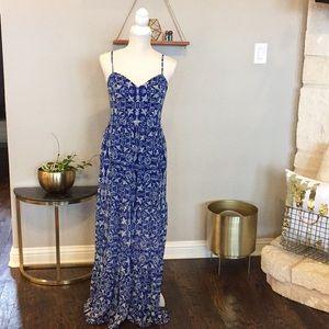 Target Xhiliration Blue Bird Maxi Dress - M